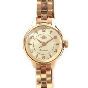 【中古】Rosemont ロゼモン Antique Touch Rose Series 腕時計 クォーツ 稼働品 ゴールド系 190902R レディース 【ベクトル 古着】|vectorpremium