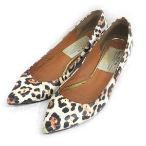 【中古】ピッピ Pippi パンプス レオパード ローヒール 37 ホワイト系 靴 191226E レディース 【ベクトル 古着】|vectorpremium