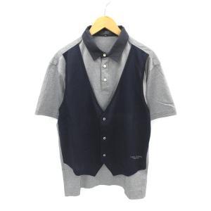 ヒールクリーク Heal Creek フェイクレイヤード 半袖 ポロシャツ 52  メンズ 【中古】...