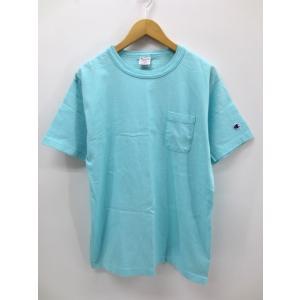 【中古】チャンピオン CHAMPION 胸ポケット付 プルオーバー Tシャツ M ブルー 春夏 メンズ 【ベクトル 古着】 vectorpremium