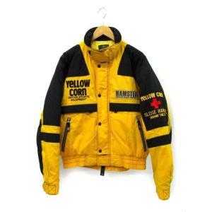 【中古】YELLOW CORN イエローコーン ジップアップ 中綿 ライダース ジャケット L 秋冬 メンズ 【ベクトル 古着】