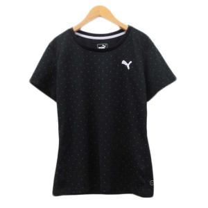 【中古】未使用品 プーマ PUMA ドライTシャツ PM514219 スポーツウエア 半袖 ロゴ刺繍...