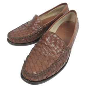 【中古】コールハーン COLE HAAN ローファー 革靴 イントレチャート メッシュ レザー 8M ブラウン 茶 メンズ 【ベクトル 古着】|vectorpremium