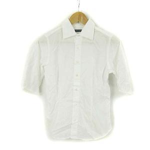 【中古】ラルフローレン RALPH LAUREN シャツ 半袖 コットン 白 ホワイト 9 レディー...