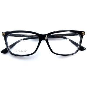 【中古】グッチ GUCCI GG0042OA 001 メガネフレーム 伊達メガネ 眼鏡 スクエア バンブルビー ブラック 黒 55□13 145 メンズ レディース 【ベクトル 古着】|vectorpremium
