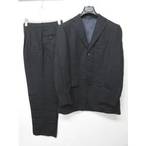 五大陸 gotairiku スーツ セットアップ ジャケット パンツ 3釦 ウール 黒 ブラック 0518 メンズ【中古】【ベクトル 古着】|vectorpremium