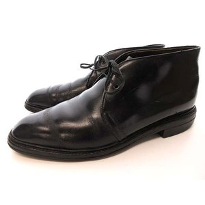 リーガル REGAL レザー チャッカ ブーツ シューズ 24 1/2 EE 黒 ブラック 0210 メンズ【中古】【ベクトル 古着】 vectorpremium