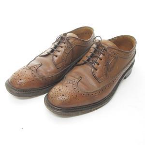 【中古】リーガル REGAL ビジネスシューズ 革靴 レザー ウイングチップ ドレス 茶 ブラウン 24EE 0803 メンズ 【ベクトル 古着】 vectorpremium