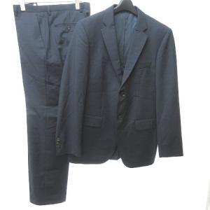 【中古】ヒューゴボス HUGO BOSS セットアップ スーツ 2B ビジネス ウール ネイビー 紺...