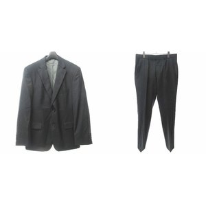【中古】ヒューゴボス HUGO BOSS 美品 セットアップ スーツ ウール シルク混 テーラードジ...