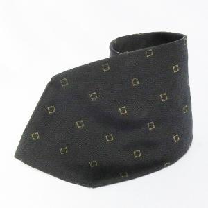 カルバンクライン CALVIN KLEIN ネクタイ 総柄 絹 シルク100% 紺 ネイビー系 メンズ【中古】【ベクトル 古着】