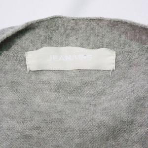 ジーナシス JEANASIS ニット ロング カーディガン 七分袖 前開き 無地 綿 コットン 100% F 灰 グレー系 レディース【中古】【ベクトル 古着】|vectorpremium|06
