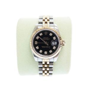 【中古】ロレックス ROLEX DATE JUST OYSTER PERPETUAL デイトジャスト 10Pダイヤ コンビ PG SS 自動巻き 腕時計 179171中古■190705 6000 レディース|vectorpremium