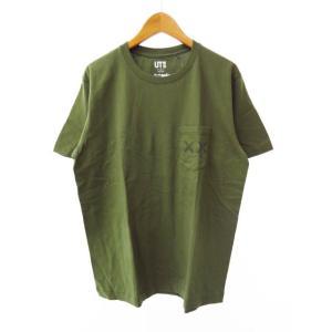 【中古】ユニクロ UNIQLO 未使用 ×KAWS カウズ 1st 初期 2016年 半袖 Tシャツ...