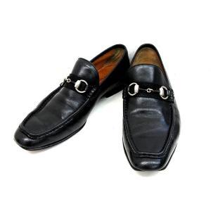グッチ GUCCI ホースビット ローファー レザー シューズ 黒 ブラック サイズ 39 EJ ビジネス 革靴 くつ IBS メンズ【中古】【ベクトル 古着】|vectorpremium