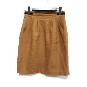 アンタイトル UNTITLED スカート 1 S キャメルブ...
