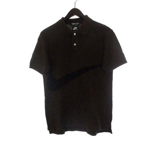 コムデギャルソン COMME des GARCONS HOMME DEUX ナイキ NIKE コラボ ポロシャツ S 茶 ブラウン コットン 鹿の子 ロゴ AD2012 メンズ【中古】【ベクトル 古着】|vectorpremium