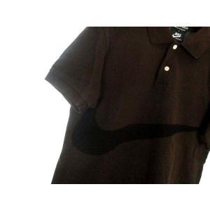 コムデギャルソン COMME des GARCONS HOMME DEUX ナイキ NIKE コラボ ポロシャツ S 茶 ブラウン コットン 鹿の子 ロゴ AD2012 メンズ【中古】【ベクトル 古着】|vectorpremium|03