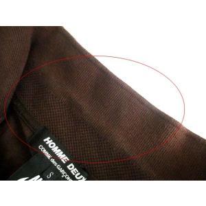コムデギャルソン COMME des GARCONS HOMME DEUX ナイキ NIKE コラボ ポロシャツ S 茶 ブラウン コットン 鹿の子 ロゴ AD2012 メンズ【中古】【ベクトル 古着】|vectorpremium|04