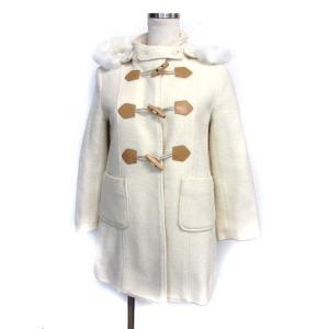 82ab2bcf1073f 組曲 クミキョク KUMIKYOKU キッズ 子供服 中綿 ダッフル コート L アイボリー ウール.