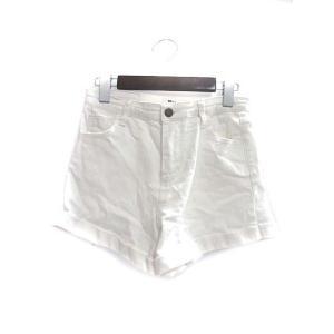 【中古】Mac Powder ショート パンツ M 白 ホワイト コットン 無地 シンプル ロールア...