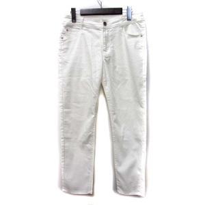 【中古】HK WORKS LONDON パンツ 64-89 M 白 ホワイト コットン 無地 シンプ...