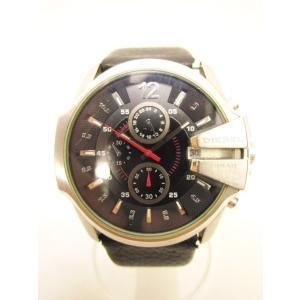 ディーゼル DIESEL クロノグラフ 腕時計 ウォッチ カレンダー シルバー ブラック DZ-4182 ☆AA★ 1105 メンズ【中古】【ベクトル 古着】 vectorpremium