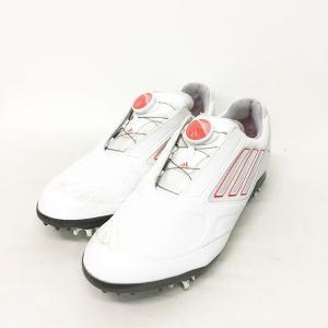アディダス adidas adizero アディゼロ ボア ゴルフ シューズ ダイヤル式 白 ホワイト ピンク 24.5cm Q47053 MKS 0624 レディース 【中古】【ベクトル 古着】|vectorpremium