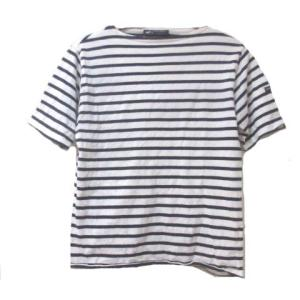【中古】SAINT JAMES Tシャツ 半袖 カットソー ボーダー 白 紺 ホワイト ネイビー F...