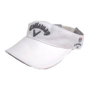 【中古】キャロウェイ CALLAWAY ゴルフ サンバイザー 白 ホワイト FR 刺繍 X レディー...