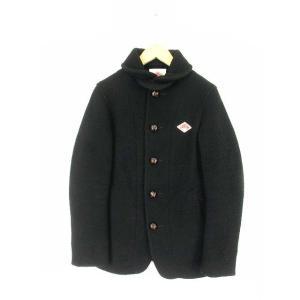 ダントン DANTON ウールモッサ 丸襟シングルジャケット メルトン ショールカラー クルミボタン コート JD-8237 WOM ブラック 黒 34【中古】【ベクトル 古着】|vectorpremium