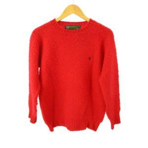 ジムフレックス Gymphlex SHETLAND ウール ニット セーター 英国製 レッド 赤 3...