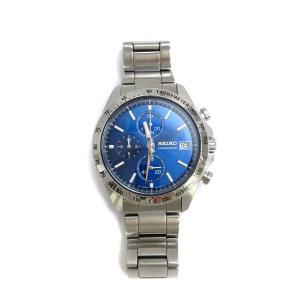セイコー SEIKO 腕時計 スピリット 8T67-00C0 クロノグラフ アナログ クオーツ ブルー シルバー メンズ【中古】【ベクトル 古着】|vectorpremium