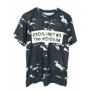 【中古】ライブ Tシャツ 半袖 M EXO PLANET #3 - The EXO'rDIUM in JAPAN ぼかし 総柄 プリント 紺 ネイビー グッズ トップス メンズ レディース|vectorpremium
