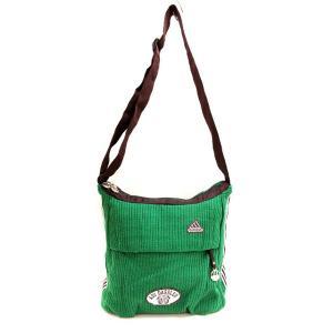 【中古】アディダス adidas リブニット ショルダー バッグ ロゴ 緑 グリーン 鞄 メンズ レ...