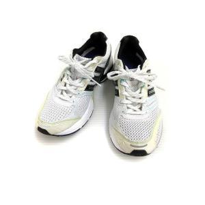 【中古】アディダス adidas adizero tempo スニーカー 6 メッシュ ライン 白系 オフホワイト 靴 シューズ メンズ 【ベクトル 古着】|vectorpremium