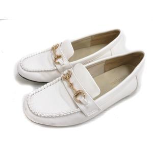 【中古】melange メランジェ ローファー 靴 シューズ 合皮 フェイクレザー 23 白 ホワイト レディース 【ベクトル 古着】