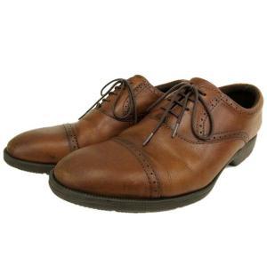 アシックス asics texy luxe レザー ビジネス シューズ 本革 オックスフォード 革靴 ストレートチップ ブラウン 25.5cm Y メンズ【中古】【ベクトル 古着】|vectorpremium