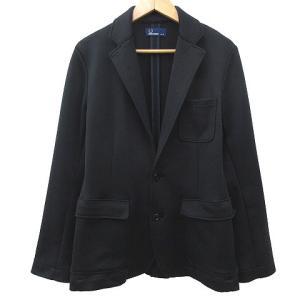 【中古】フレッドペリー FRED PERRY テーラードジャケット ジャージー F2345 ロゴ刺繍...