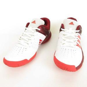 アディダス adidas BB4834 Quickforce 5.1 テニス シューズ スニーカー 25cm ホワイト エンジ ピンク レディース 【中古】【ベクトル 古着】|vectorpremium