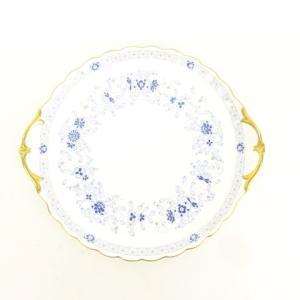 【中古】ナルミ NARUMI ミラノ サービスプレート 約28cm 花柄 ボーンチャイナ 持ち手部分あり 皿 食器 陶器 ブルー × ゴールド × ホワイト  【ベクトル 古着】|vectorpremium