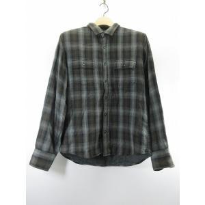 アバハウス ABAHOUSE チェックシャツ 3 グレー 黒...