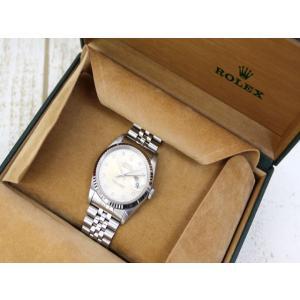 ロレックス ROLEX 腕時計 ウォッチ オイスター デイトジャスト X番 16234 自動巻き WG 角ダイヤインデックス /RZ SSAW メンズ【中古】【ベクトル 古着】|vectorpremium