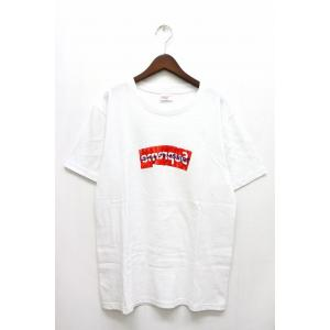 17SS シュプリーム SUPREME コムデギャルソンシャツ COMME des GARCONS SHIRT Tシャツ ボックスロゴ ペーパーアート 半袖 M ホワイト 白