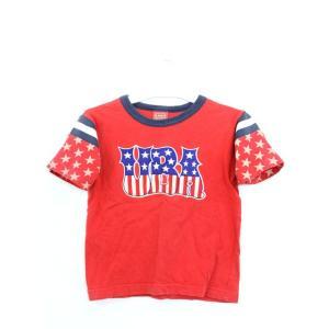 子供服 キッズ U-BOAT Tシャツ カットソー ロゴ プリント 5分袖 110 レッド 赤 /Y...