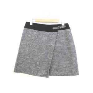 アンタイトル UNTITLED 台形スカート ラップスカート スカート ボトムス ツイード ひざ丈 ...