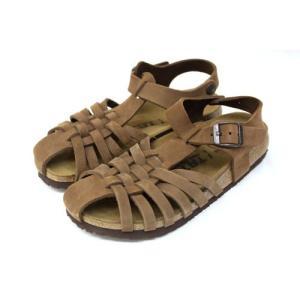 美品 タタミ TATAMI フラットサンダル ドーハ Doha レザー 靴 シューズ 36 茶 ブラ...