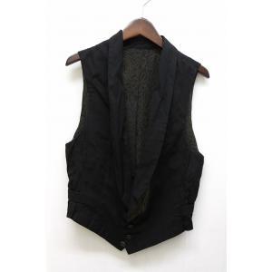 ブティックニコル boutique NICOLE ベスト ジレ 総柄 パターン ノースリーブ ブラック 黒 /BT5 メンズ【中古】【ベクトル 古着】|vectorpremium