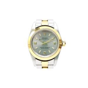 【中古】ロレックス ROLEX オイスターパーペチュアル K番 76183 イエローゴールド ステンレス コンビ 腕時計 /Z レディース 【ベクトル 古着】|vectorpremium