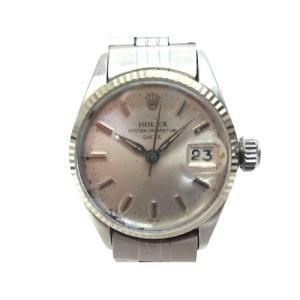 【中古】ロレックス ROLEX オイスターパーペチュアルデイト 6517 アンティーク 腕時計 SS...